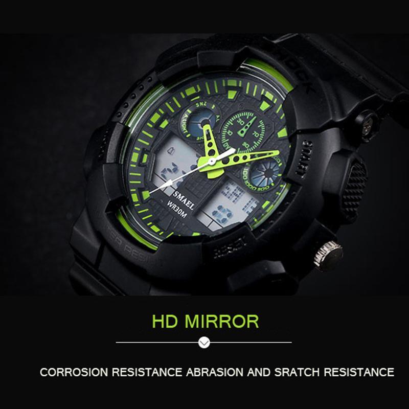 2020 SMAEL Marka İzle Erkekler Spor LED Dijital Erkek ClockWristwath Mens izle üst marka lüks relógios Masculino Montre Homme WS1027
