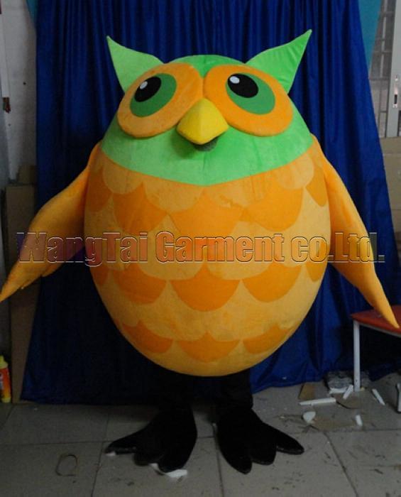 Orange Owl Maskottchen Kostüm Professionelle erwachsene Größe Carnival Anime-Film Charakter klassischer Cartoon erwachsenen Charakter Cartoon Klage Freies Verschiffen