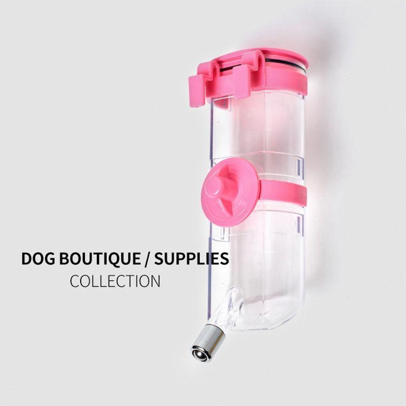 Nuevo diseñador para mascotas Suministros de colgado automáticos admiten Dispensador de agua 350ML de 500ML y 4 colores del gato del perro del dispensador del agua para mascotas accesorios del perro