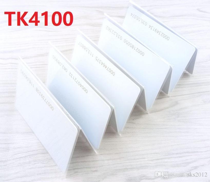 1000шт 125KHZ TK4100 с ID номер Печать Blank карты RFID белый ID карточки PVC высокого качества