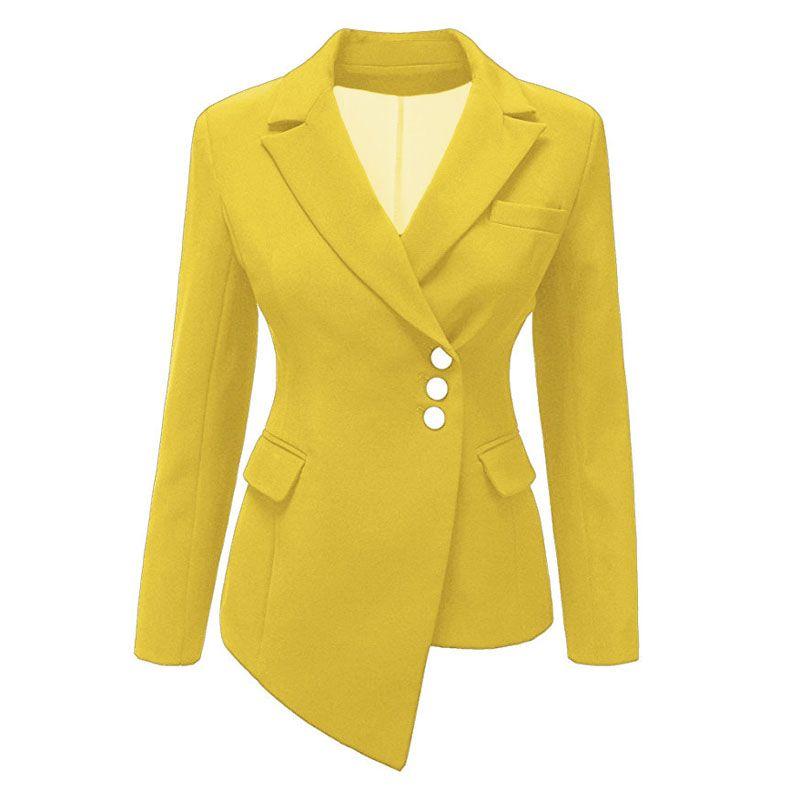 Kadın Blazers Kemer Avrupa Tarzı Tunik Elegant Blazers Ofis Lady Kadın Şık Suits Beyaz Traje 9 Şeker Renkler S-3XL SP498