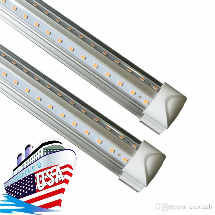 1.2M T8 Tube LED V Shape Integrate 4ft 5ft 6ft 8ft Double Side Power LED Tube Factory Price Cooler Door Lighting SMD2835 100LM/W