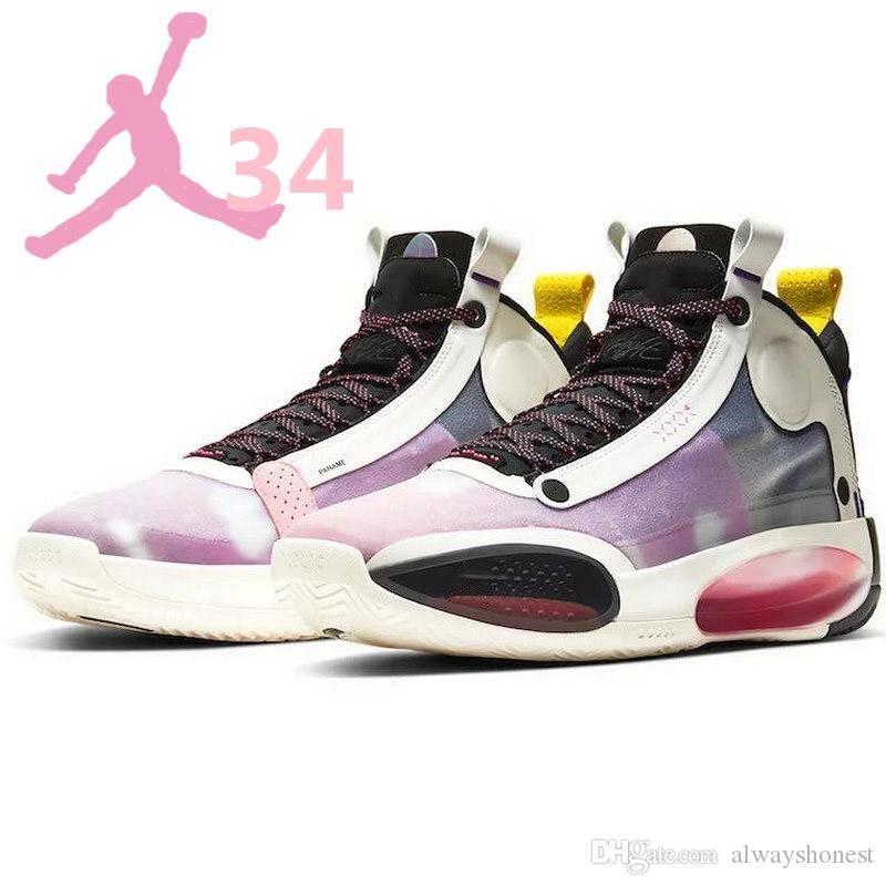 Горячая всячески препятствовать ХХХIV 34 ЮВ Париж инфракрасный 23 баскетбол обувь с коробкой 34С разводят белый красный черный затмение Мужские спортивные кроссовки 40-46