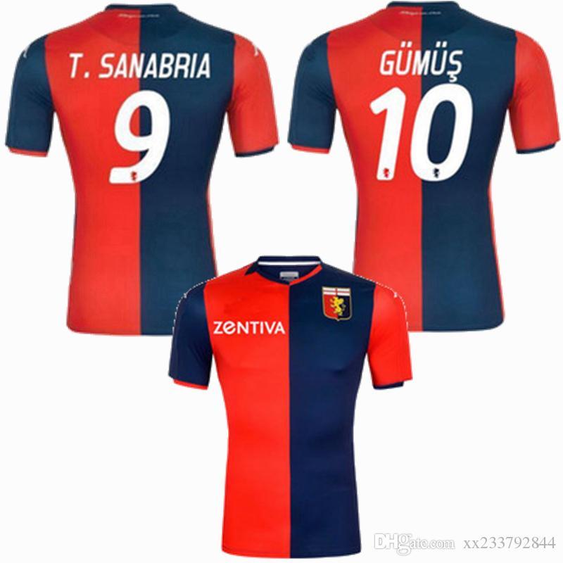 2019 2020 Genoa CFC Futebol casa longe SCHONE ROMERO Kouamé GUMUS T.SANABRIA 19 Camisa 20 de futebol S-2XL