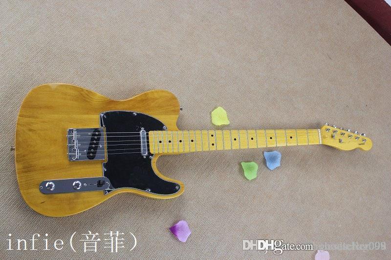 envío de la tapa inferior calidad precio natural del color Guitarra eléctrica en la acción
