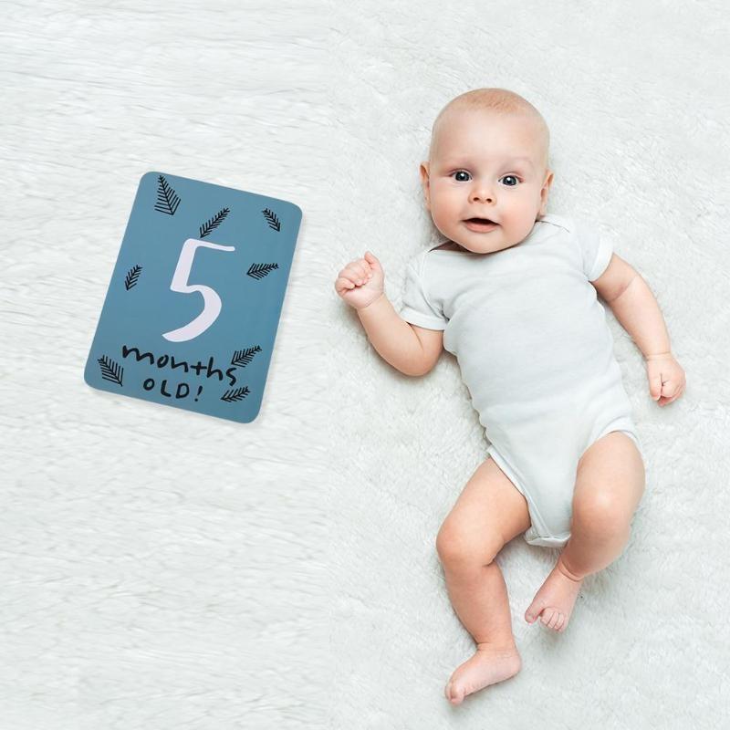 Conjuntos de regalo 20pcs crecimiento del bebé regalos hito conmemorativo infantil Mes Días fotografía apoya la tarjeta de bebé Registro del Crecimiento accesorios de fotos Accesorio