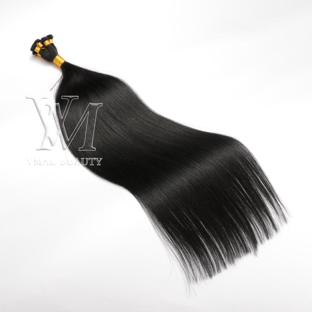 VMAE Full Cuticle single donor European Burgundy Blonde brown double drawn 100g Russian Remy Virgin Hand Tied Weft Human Hair Extensions