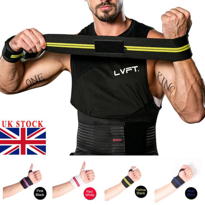 1 пар Регулируемой Напульсник Упругого запястье Обертывание Бандажей для тяжелой атлетики пауэрлифтингу дышащей Wrist Support