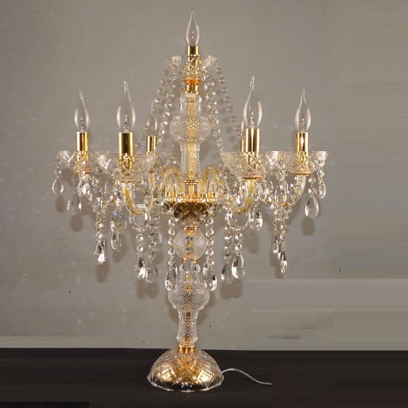 Decora cristal moderna Lámparas de mesa para el dormitorio de plata de oro Tabla luz de las velas de los candelabros lámpara de mesa de cristal diseños de casas de los decoros de iluminación