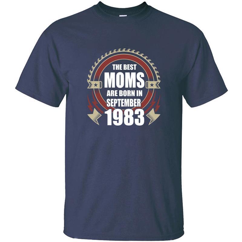 Criar Slogan As melhores mães são nascidos Em setembro de 1983 T Shirt Man Humorous Preto Comics Homens T-shirt 2020 de alta qualidade