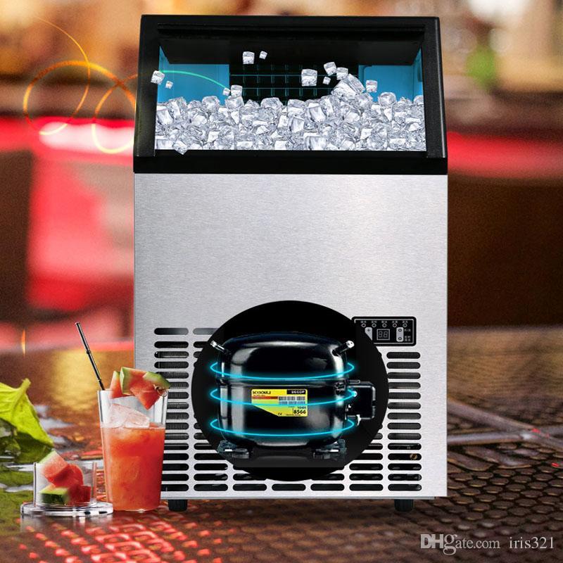 HZB-55 máquina de gelo Comercial grande máquina de fazer gelo quadrado automático cubos de gelo para bares, cafés, lojas de bebidas frias