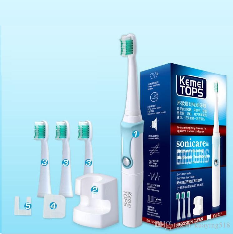 Kemei Erwachsene Kinder universal Wasserdichte sonic elektrische Zahnbürste Induktion ladestufe 7 wasserdicht