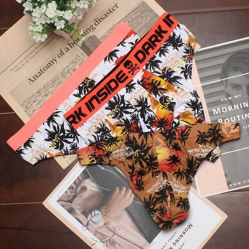 Sportmode Herren-T-Hosen Baumwolle atmungsaktiv traceless Unterwäsche sexy T-Hosen eng hoch taillierte Unterwäsche Einzel Größe