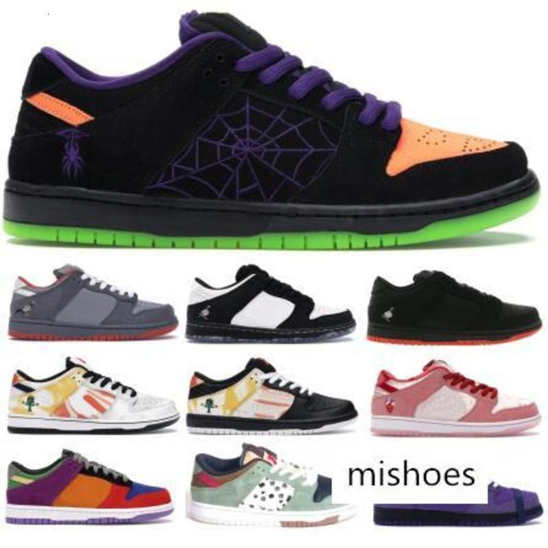 SB Dunk Mens Running Shoes Arrivals Noite Malícia Halloween Moda feminina top Strangelove Designer Shoes