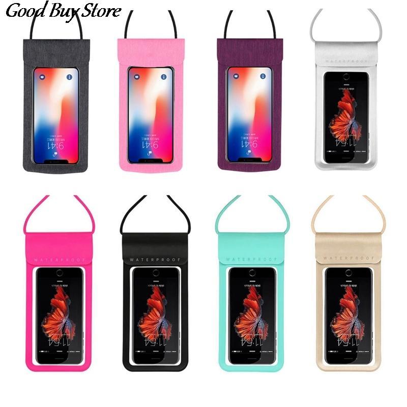 Touchable PVC Mobile Phone cambiare borsa Borse ragazze Beach Piscina sacchetto impermeabile touch screen spalla Portafoglio universale