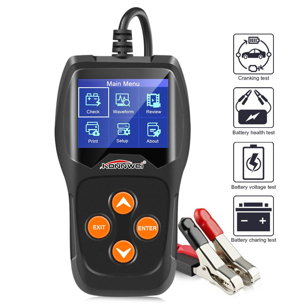 KW600 12V Car Battery Tester 100 to 2000CCA 12 Volt Battery tools for the car Quick Cranking Charging Diagnostic