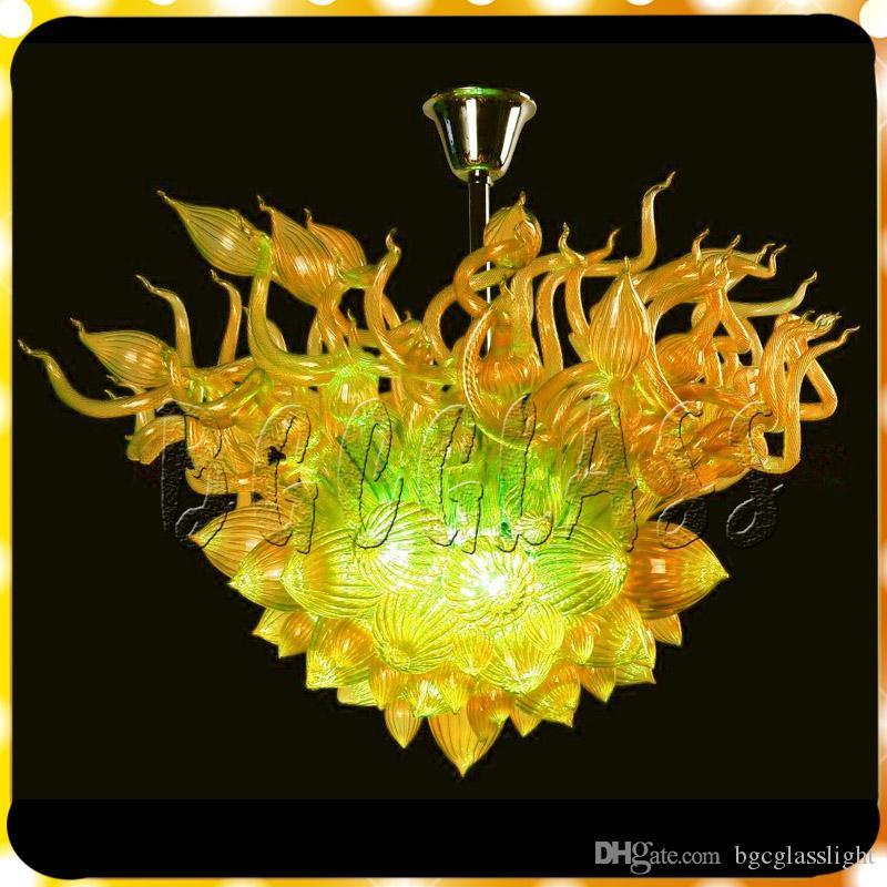 Diseñador único decorativo soplado de vidrio borosilicato Dale Chihuly Arte Murano Los más vendidos lámpara de cristal para la sala de estar y dormitorio Mano