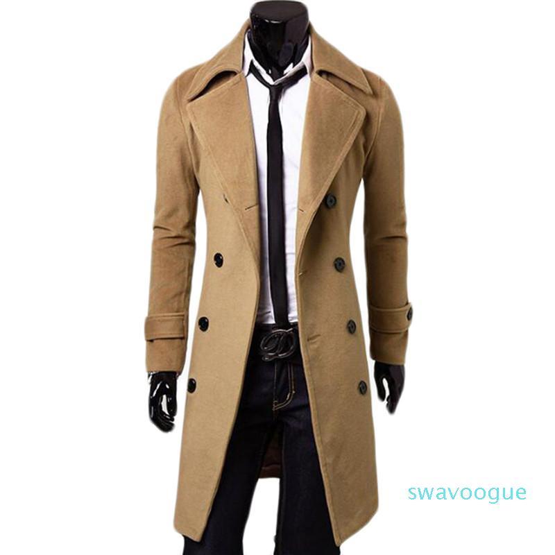 Doppio Petto X-giacca lunga di lana Miscele Windbreaker Palto Jaqueta Masculina Uomini Cappotto Hombre Mens giacche e cappotti xm0