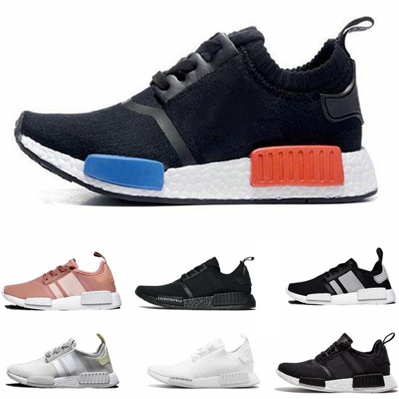 Nmd Runner R1 Mesh Triple Black White Cream Salmon City Pack Men Women Running Shoes Sneakers Original Nmds Runner Primeknit Sports Shoes