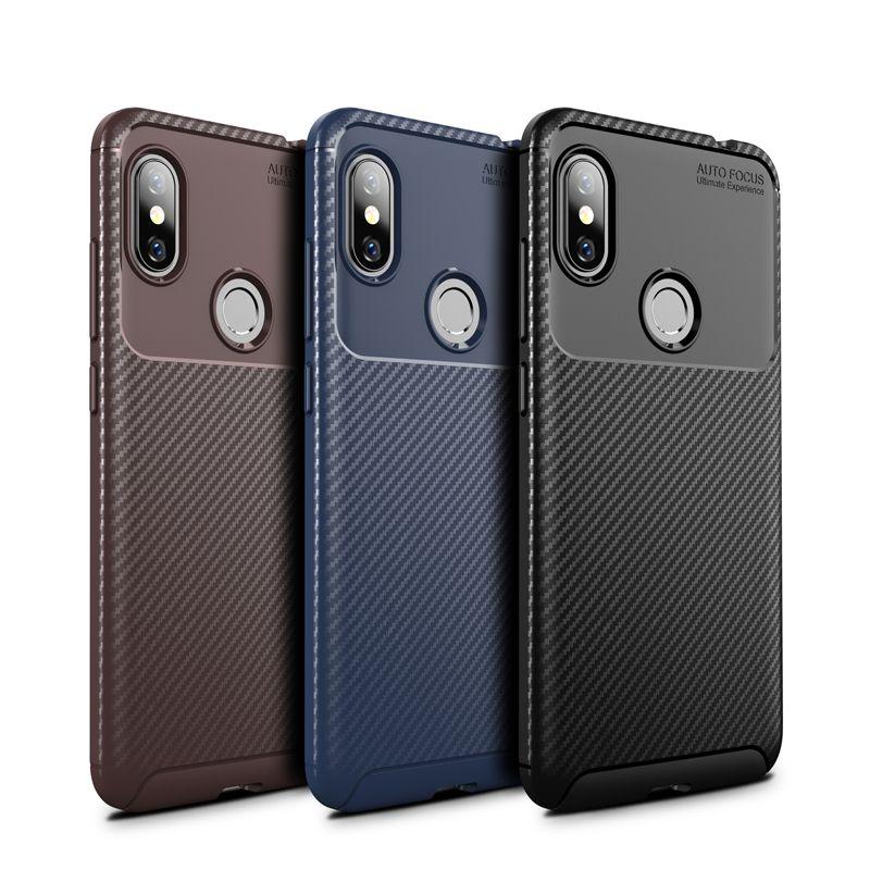 Petle Carbon Fiber Tpu Case for Redmi Note 6 Phone Case Favor Slim Soft Back Cover