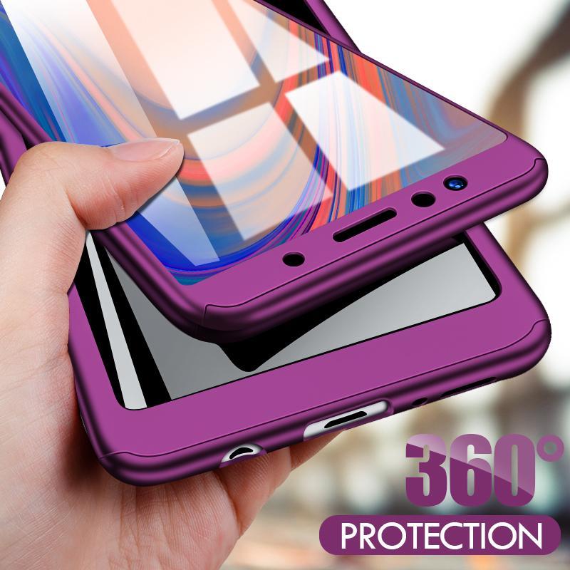 360 protectora del teléfono del caso para Samsung Galaxy A51 A71 A10 A20 A30 A40 A50 A70 A6 A8 A9 2018 J4 J6 más J3 J5 J7 A5 A7 2017 Caso