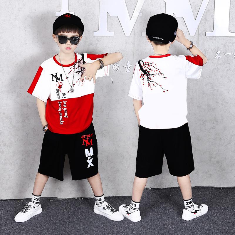 Çocuk Giyim Yaz Boys Spor Şort Eşofman 8 ila 12 yaşında Casual Giyim Çocuk Giyim Boys ayarlar Kısa kollu Tops + Suits