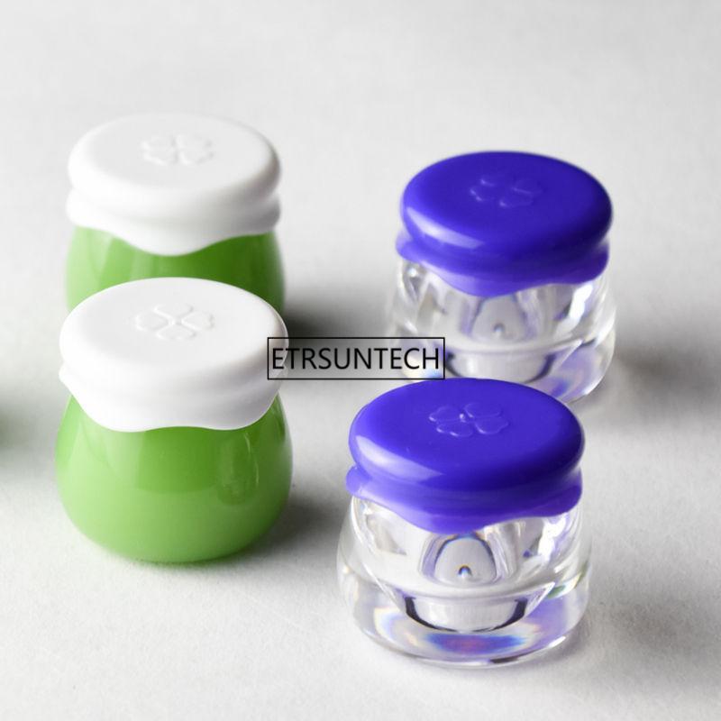 10g Svuotare ricaricabile Crema Viso vaso cosmetico contenitore di plastica contenitore vuoto del campione make up Pot F20202125