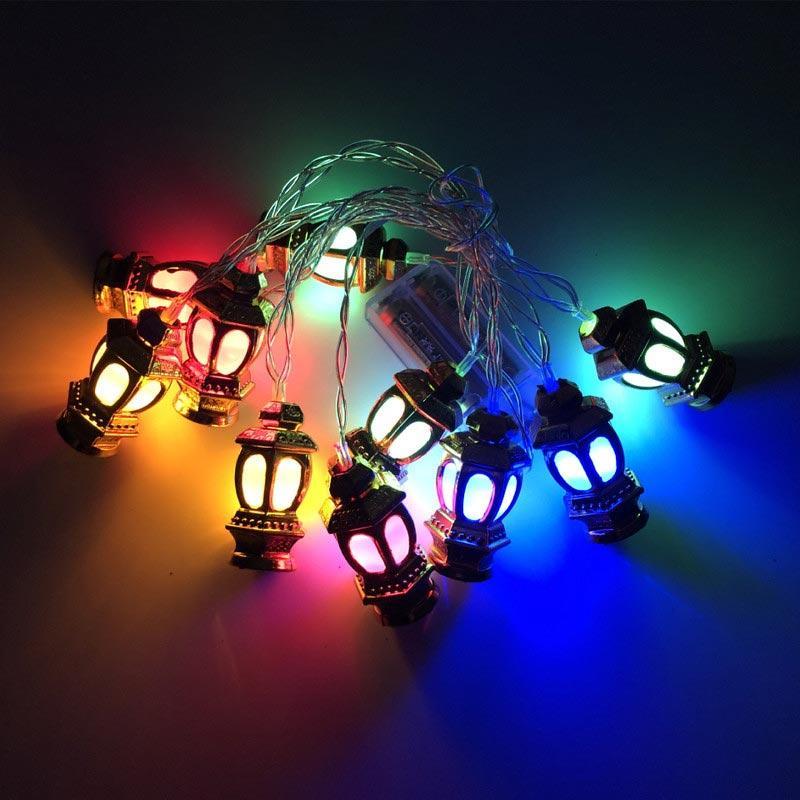 BRELONG LED 라마단 문자열 조명, 10LEDs 등불 안뜰 정원 홀리데이 홈을위한 문자열 조명, 무슬림 등유 문자열 빛 모양의