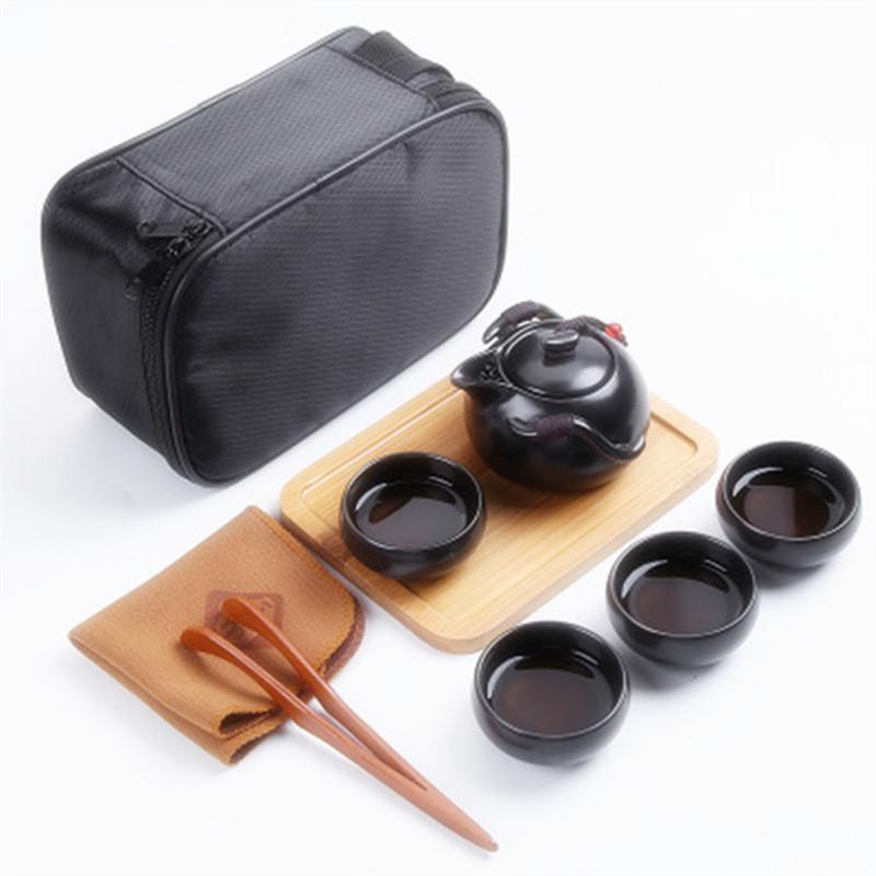 bouilloire théière en céramique tasse de thé pour le thé gaiwan portable théière puer chinois DRINKWARE ensemble préféré 2019