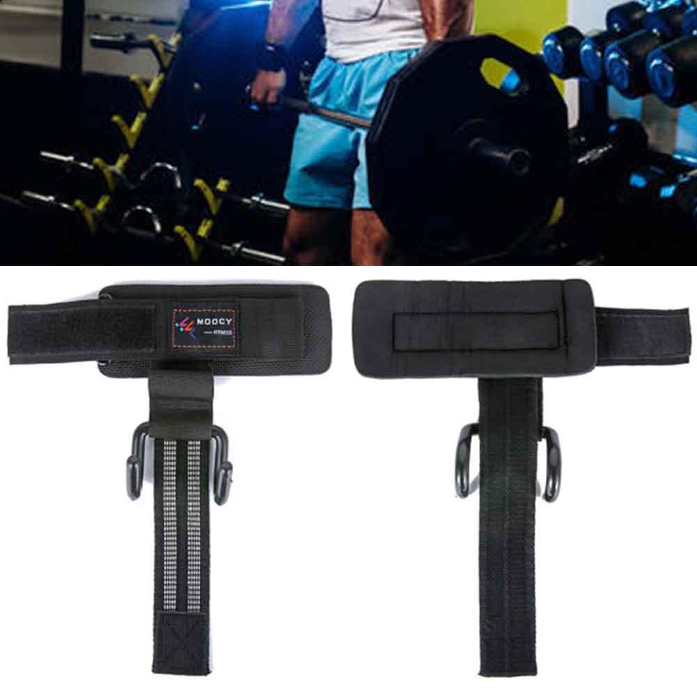 1 Paar Kreuzheben Grip Gym Übung Pull-up-Schutz Heavy Duty Cross Training Handschlaufe Sport Fitness Gewichtheber-Haken