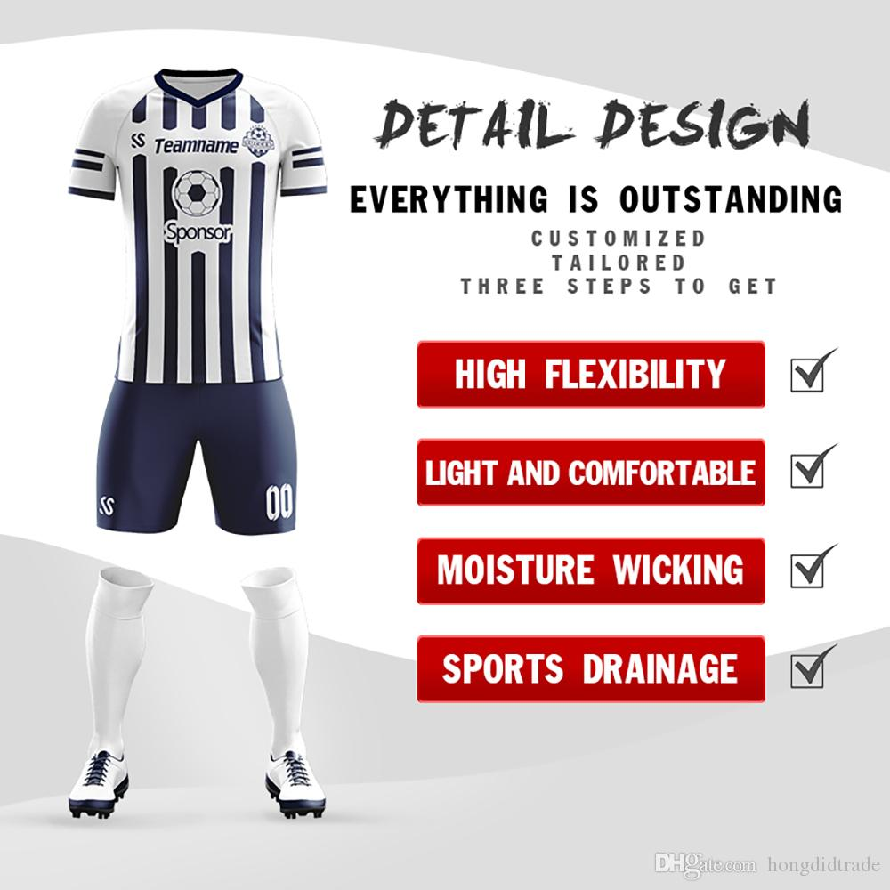 High quality custom Full Sublimation made china comfortable team Soccer Jersey wholesale football practice jerseys