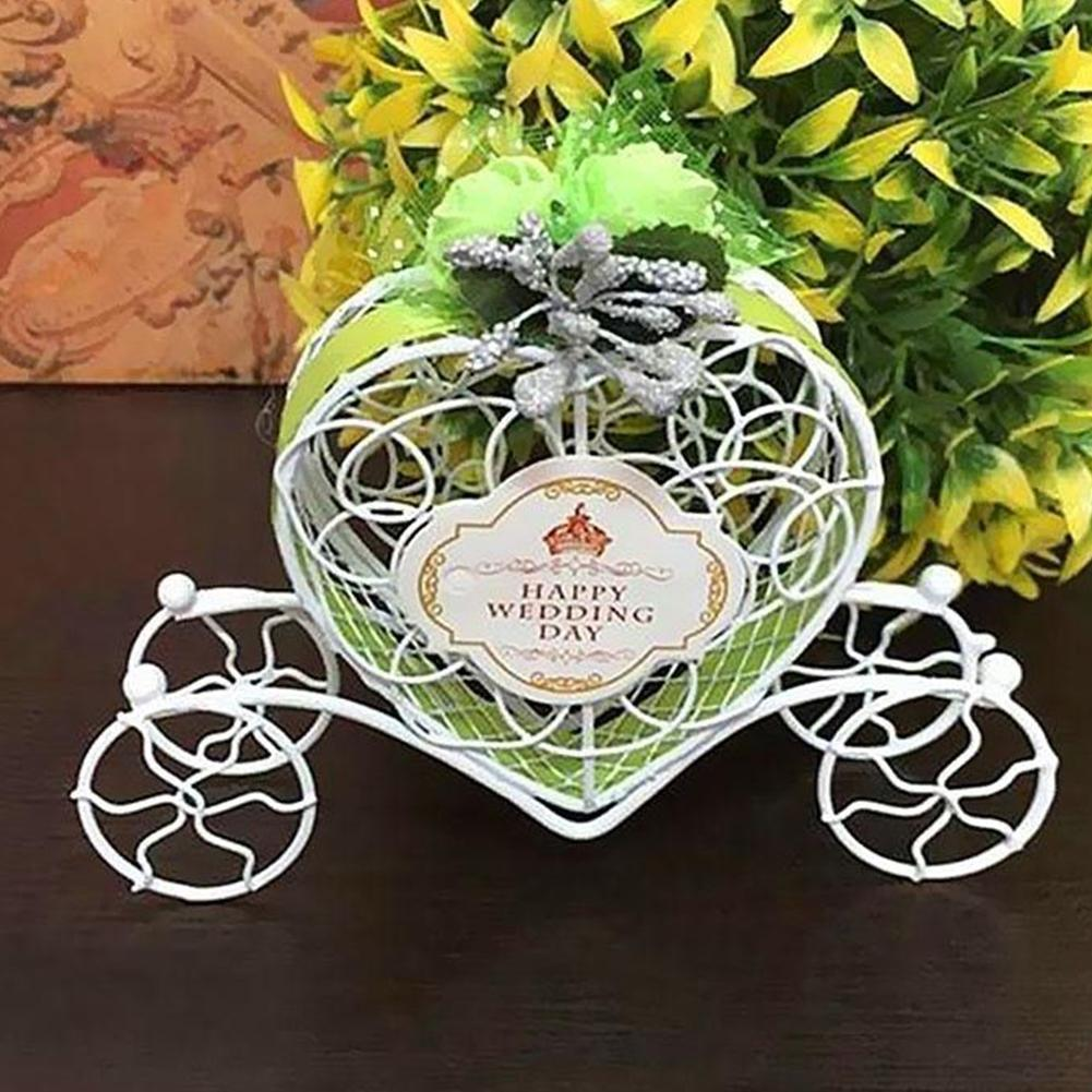 Lovely Cinderella Carriage Candy Chocolate Boxes Birthday Wedding Party Decoration Candy Box Wedding Gifts For Guests