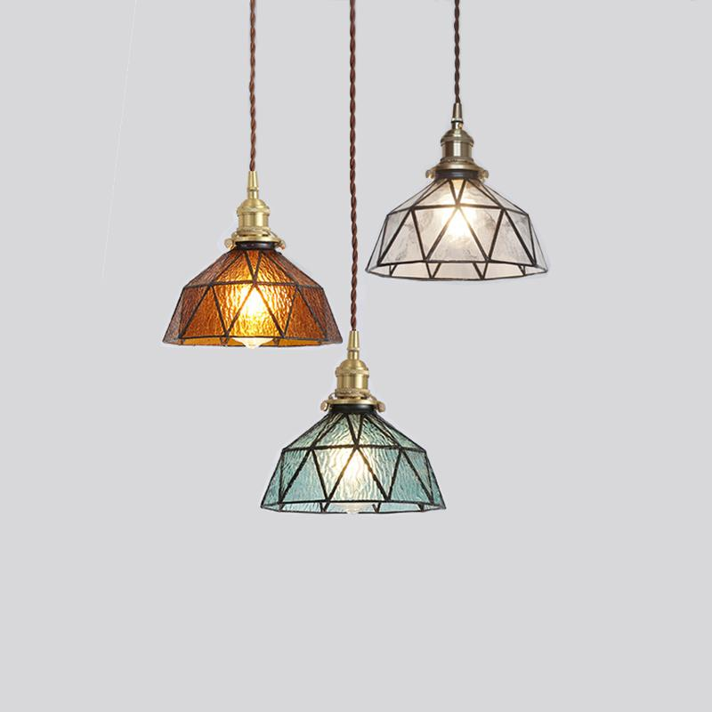 Vintage Pendant Lights Glass Lamp Loft Hanging Light Fixture Bar Kitchen Living Room Art Deco Nordic Suspension Led Hanglamp E27