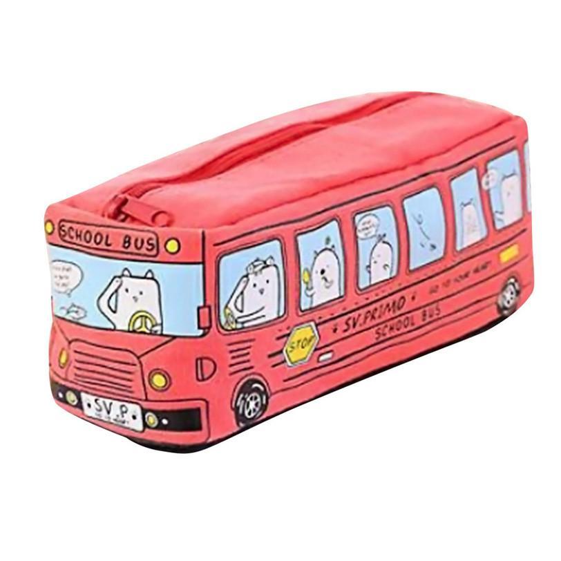estudiantes Niños Gatos Autobús Escolar caja de lápices bolsa de papelería de oficina bolsa Jul19 Profesional precio de Fábrica