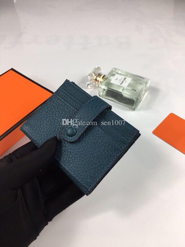 الكمال بطاقة مصمم حالة قسط من الرجال والنساء والجلود المحفظة بطاقة حالة هدية