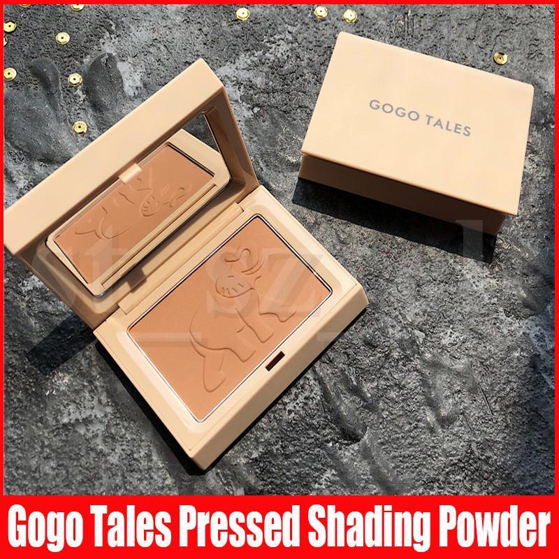 Gogo Tales Face Makeup Cute Elephant Powder Brightening Long-lasting Waterproof Brighten Face Pressed Powder Palette Contour 2 Colors