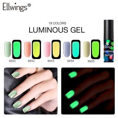 Светящийся лак для ногтей флуоресцентного Барби ногтей клея завод украшение прямого гвоздя долговечного натурального резинок Хэллоуин украшение призраки