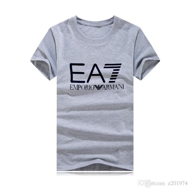 Camiseta de la impresión camisa de los hombres de verano de manga corta en forma cruzada o-cuello de la manga corta de ropa camiseta de algodón superior