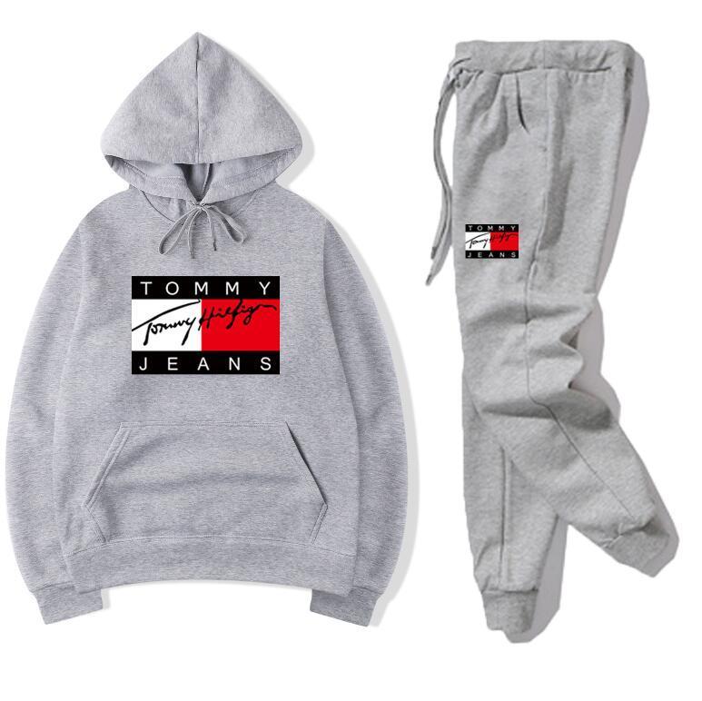 Nuevo diseño en la parte superior de la llegada juegos de sudor del chándal de los hombres de lujo caen de invierno para hombre del basculador adapta a la chaqueta + Pants Juegos Deportivos mujeres traje de Hip Hop Juegos
