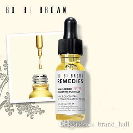 famosa marca Bobi Remedios marrones Esencia N75 Piel clarfier concentrarse poros purifiant Esencia de control de aceite 14 ml de suero de cuidado de la piel
