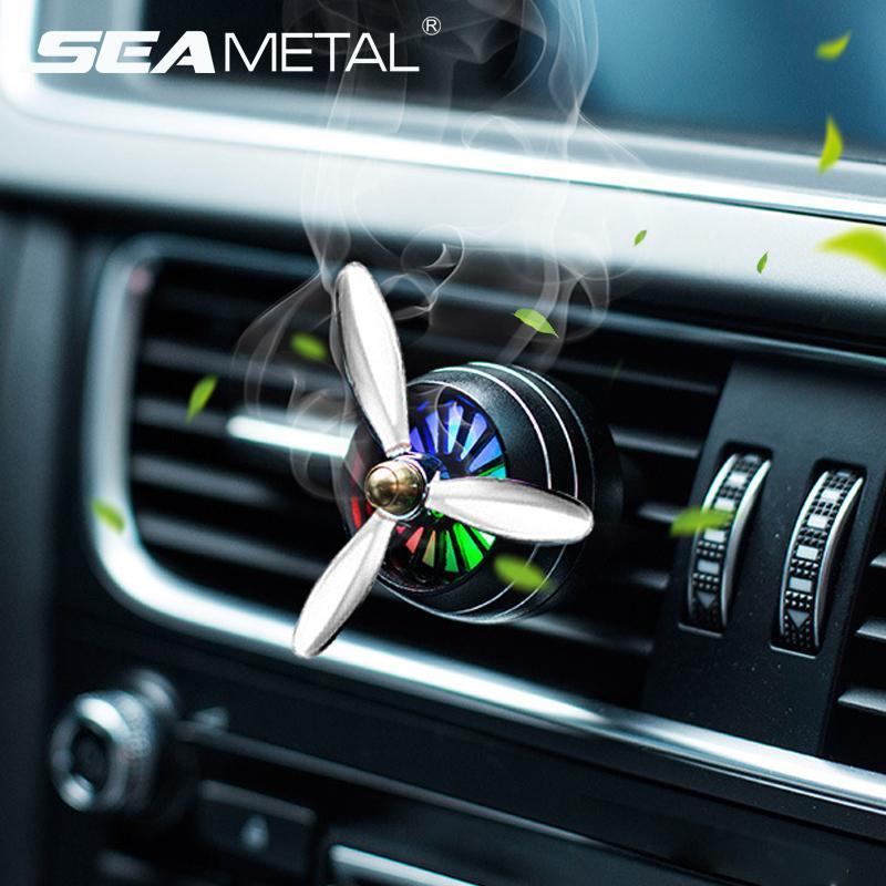 Refrogerador de ar Carro Cheiro LED Mini Condicionado Saída de Ventilação Perfume Clipe Fresco Aromaterapia Fragrância Liga Auto Boa Acessórios