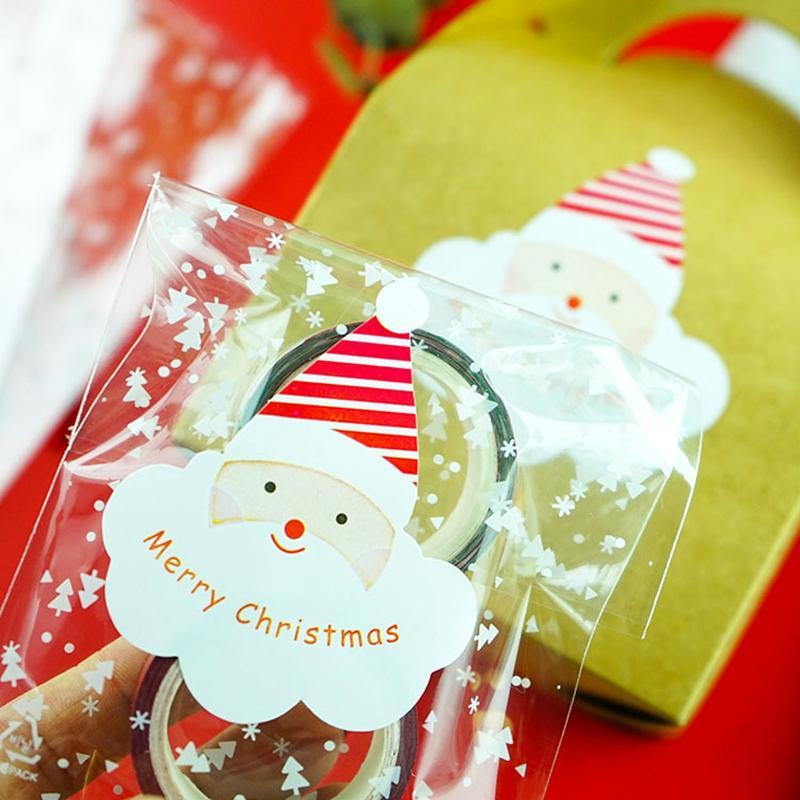 hediye kutusunda 10 adet / set Merry Christmas Noel Baba Dekoratif Çıkartma Defteri DIY şeker kutusu Yılbaşı Çıkartma