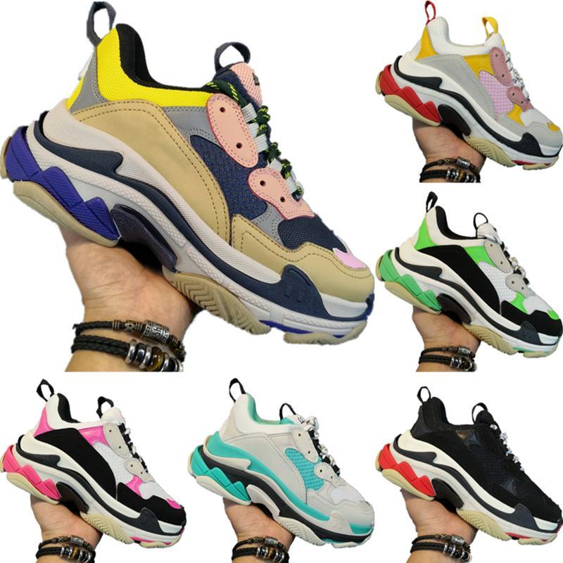 2020BALENCIAGATriple-S Sneakers Triple-S Women Buffer Rubber Sports Shoes