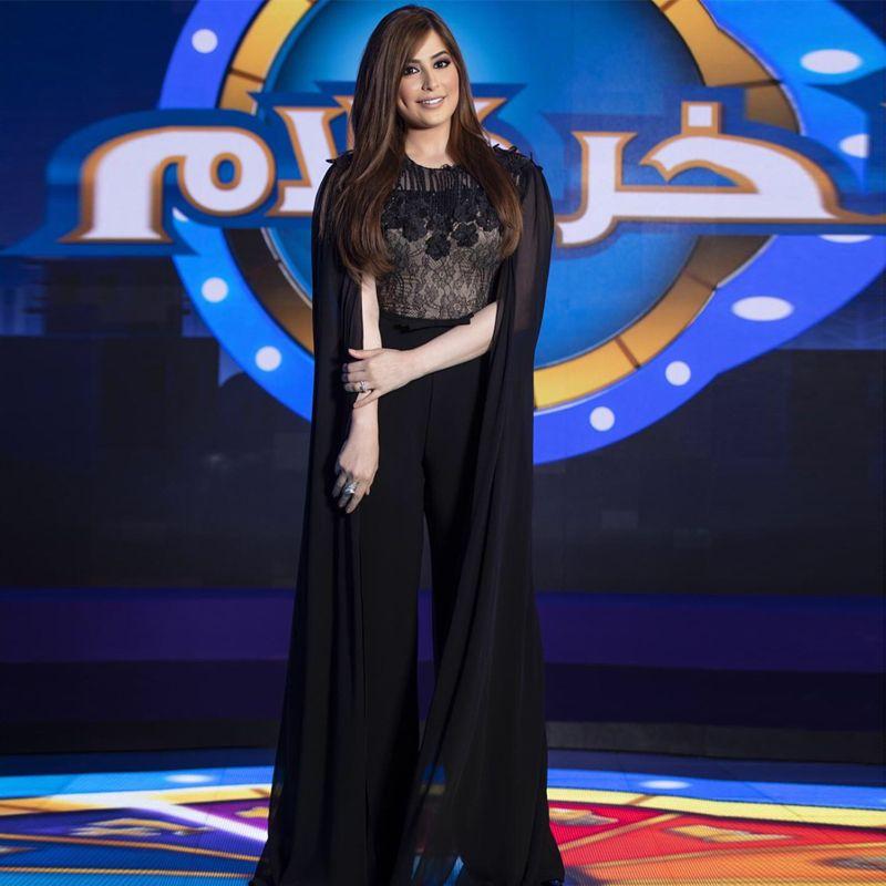 New Arrival Black Jumpsuit Evening Dresses with Wrap Jewel Neck Lace Top Dubai Caftan Formal Dress Chiffon vestidos de fiesta Outfit