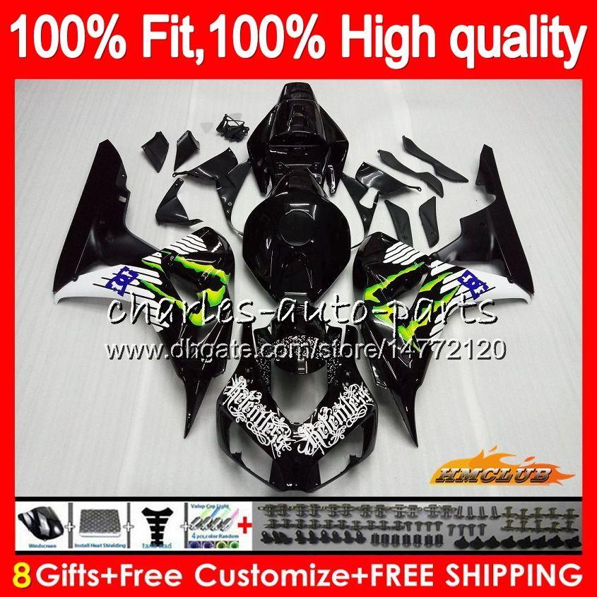 Injektion OEM för Honda CBR 1000cc 1000 RR 06 07 Body 78HC.19 CBR1000 RR CBR 1000RR Ny svart försäljning CBR1000RR 06 07 2006 2007 100% FIT FAIRING