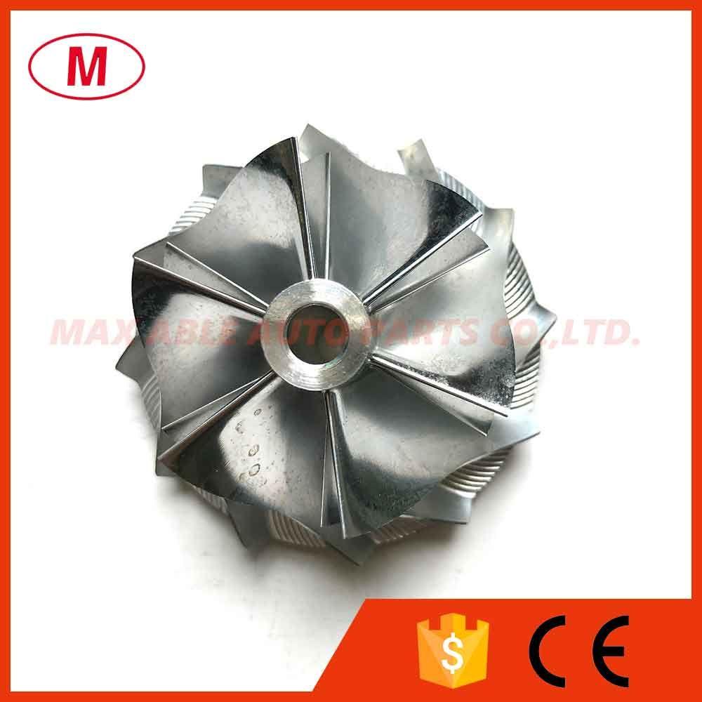 RHF55 43,40 / 56,03 milímetros 6 + 6 lâminas de alta PerformanceTurbo tarugo roda do compressor / Alumínio 2618 roda / trituração por Nissan VR38DETT Twin Turbo