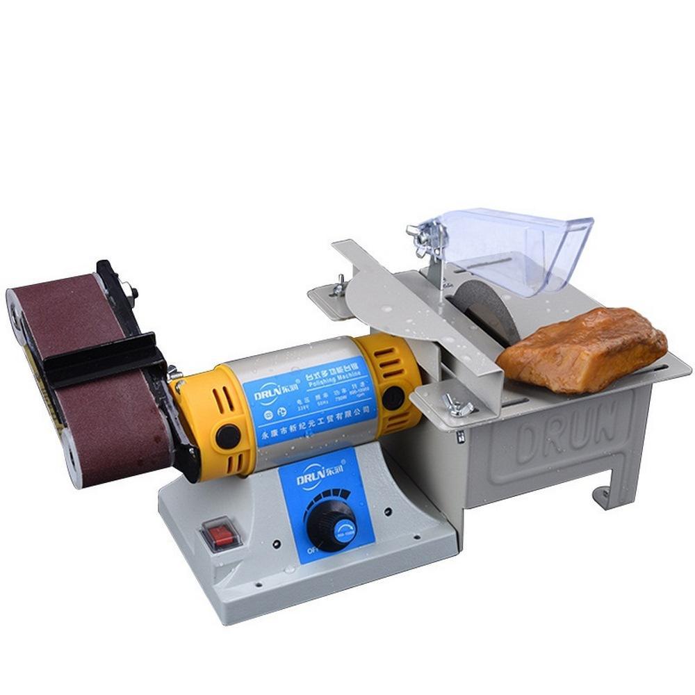 Lijadora de escritorio multifuncional lijadora de banda Tabla serrería de la madera pulido de la máquina de corte afilador de cuchillos 220V DIY