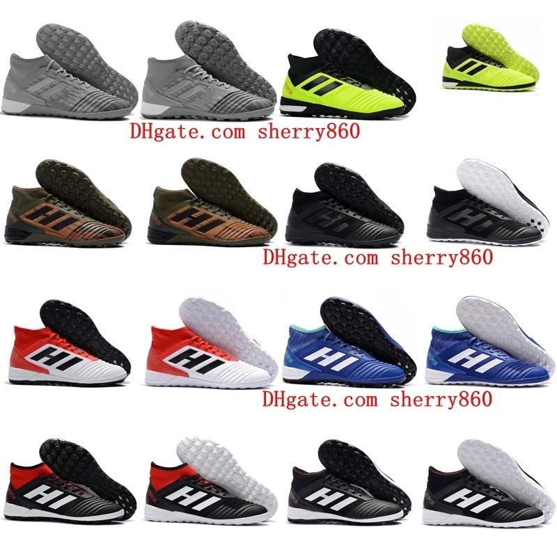 mens baratos del fútbol tacos depredadores botas de 18 zapatillas de fútbol sala fútbol Predator Tango 18,3 IC TF scarpe da Calcio 39-46