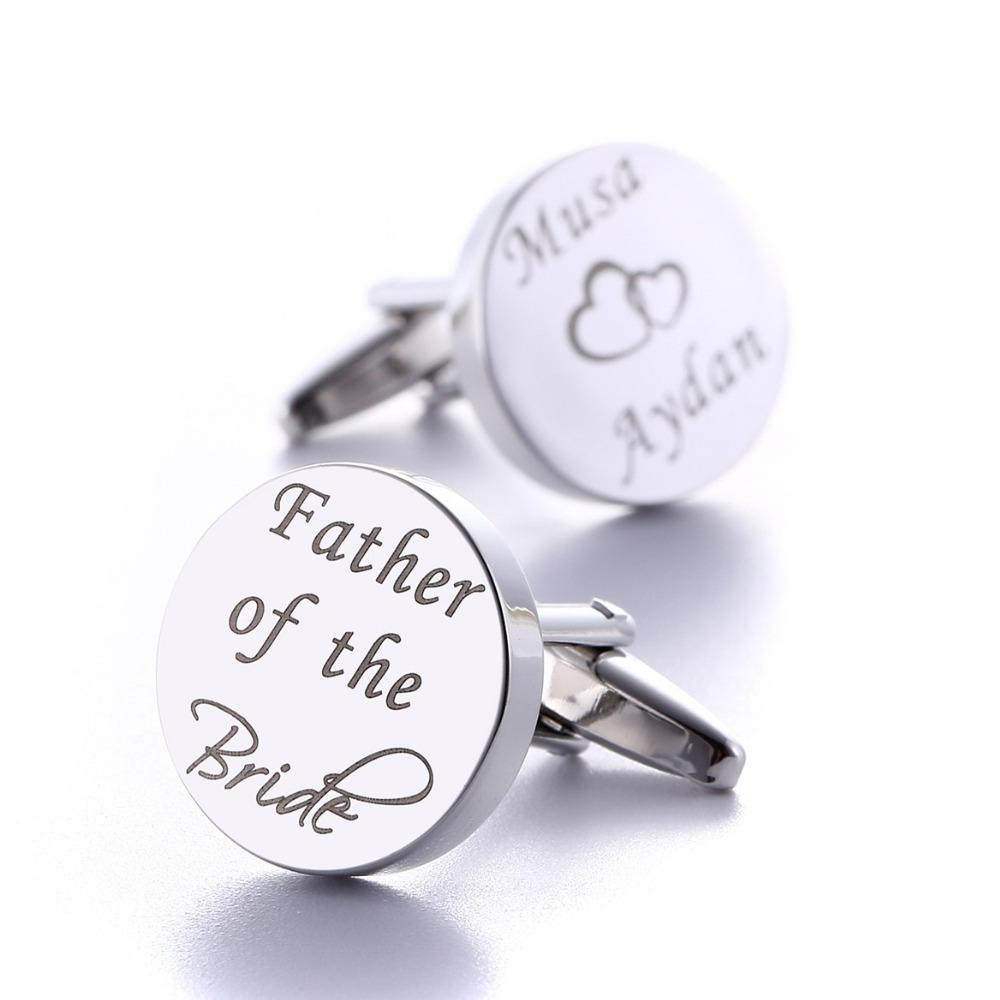 Personalised Silver Plated New Daddy Photo Cufflinks Fathers Day Birthday