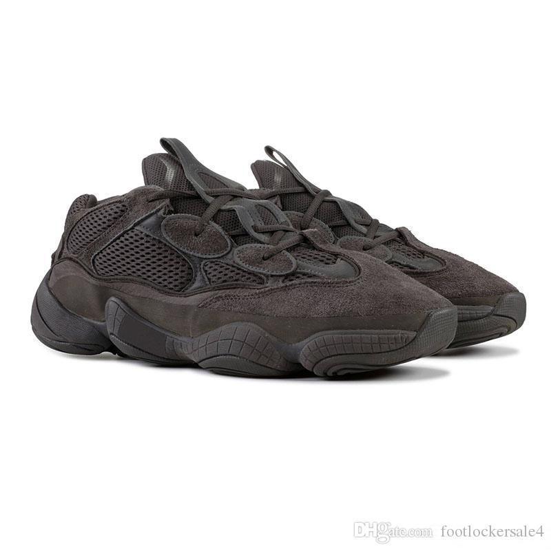 2020 Nouveau 500 rat du désert blush 500s Sel super Lune chaussure de course jaune utilitaire hommes mode luxe hommes femmes sandales de créateurs de chaussures